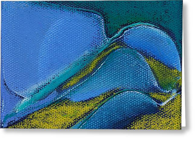 Inspired Blue 17 Greeting Card by Jacqueline Steudler