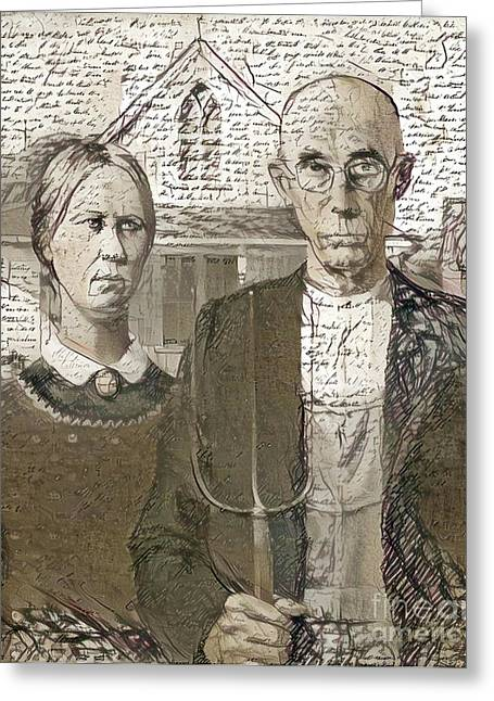 Anniversary Card American Gothic Couple Card