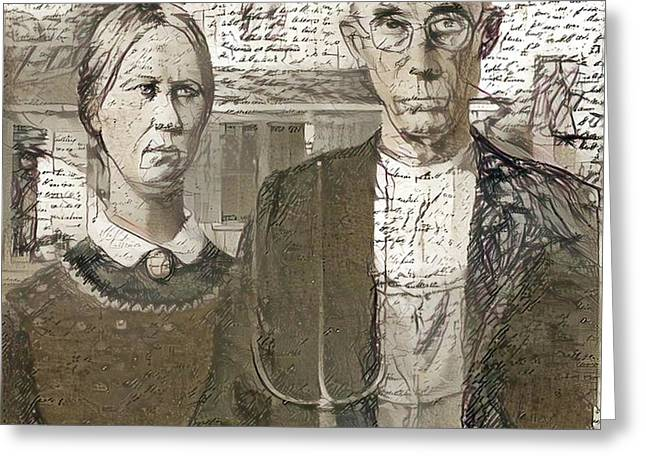Inspired By American Gothic Greeting Card