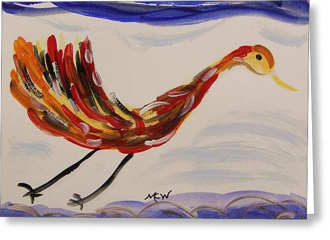 Mcw Greeting Cards - Inspired by Calders Only Only Bird Greeting Card by Mary Carol Williams