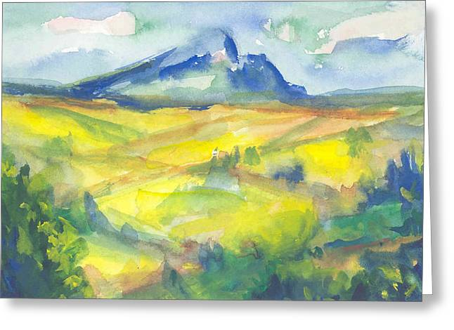 Inspired By Cezanne Greeting Card by Connie Schaertl