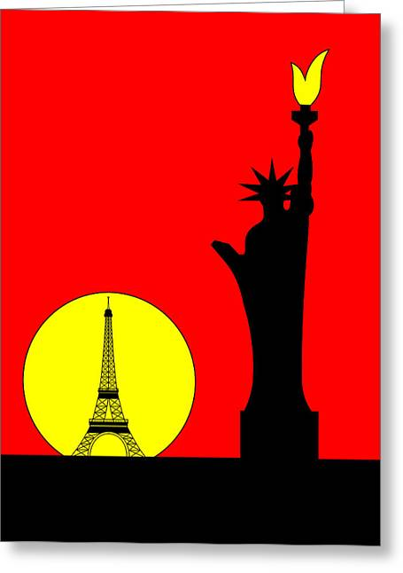 Inspired By The Statue Of Liberty In Paris Greeting Card