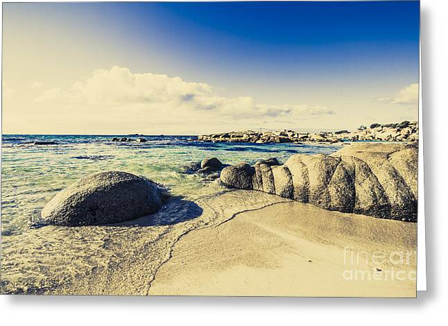 Instagram Style Ocean Landscape Greeting Card by Jorgo Photography - Wall Art Gallery