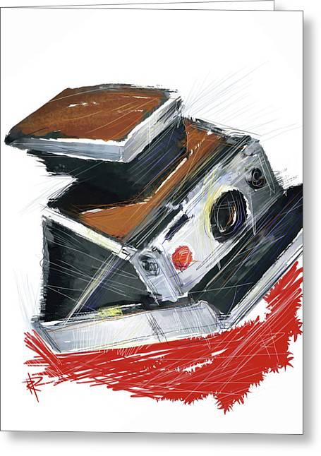 Old Camera Mixed Media Greeting Cards - Instant Fun Greeting Card by Russell Pierce