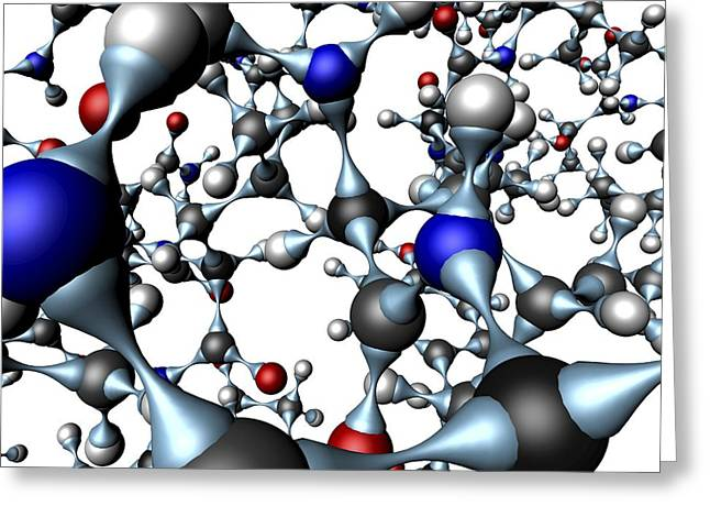 Insulin Molecule, Close-up View Greeting Card