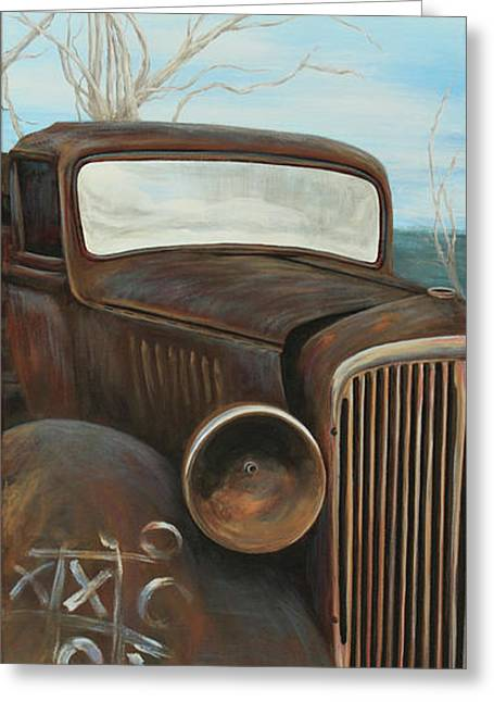 Classic Pickup Paintings Greeting Cards - Insult to Injury Greeting Card by Janice Smith