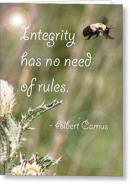 Integrity Greeting Card