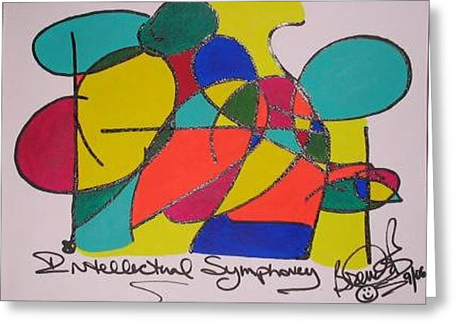 Intellectual Symphony Greeting Card by Brenda Basham Dothage
