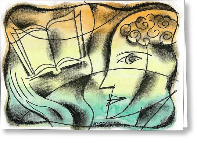 Intelligence, Knowledge, Learning Greeting Card by Leon Zernitsky