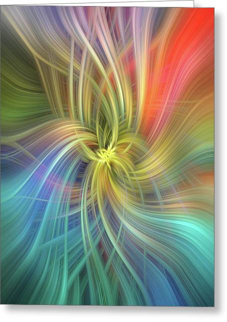 Intelligence. Mystery Of Colors   Greeting Card