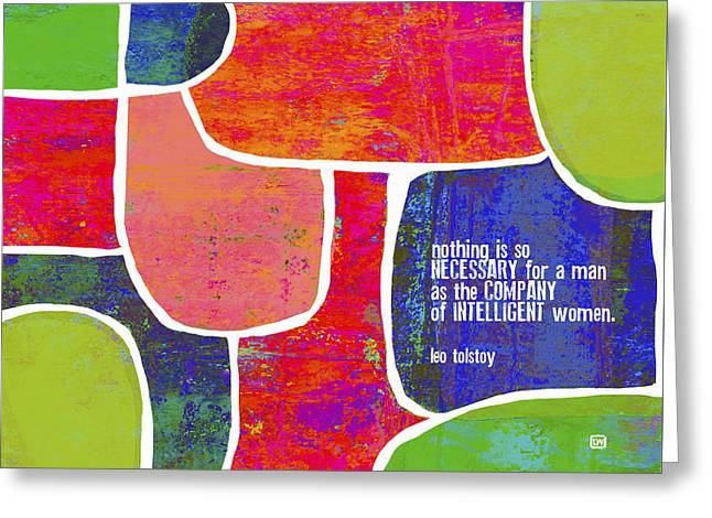 Intelligent Women Greeting Card by Lisa Weedn