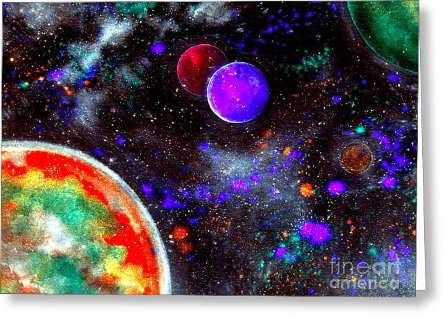 Intense Galaxy Greeting Card by Bill Holkham