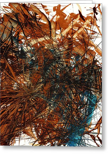Intensive Abstract Expressionism Series 46.0710 Greeting Card