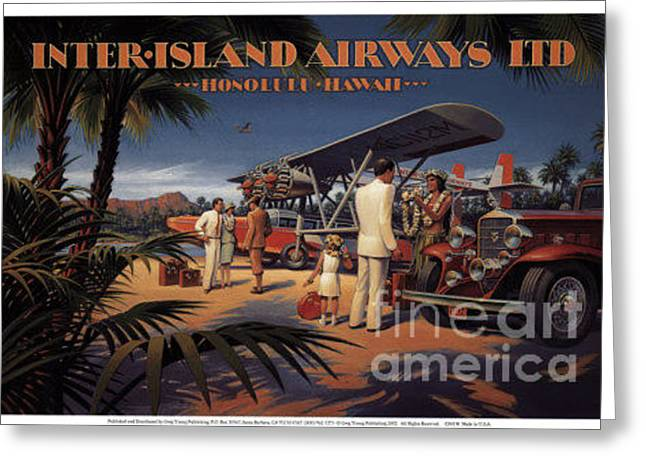 Inter Island Airways-honolulu Hawaii Greeting Card