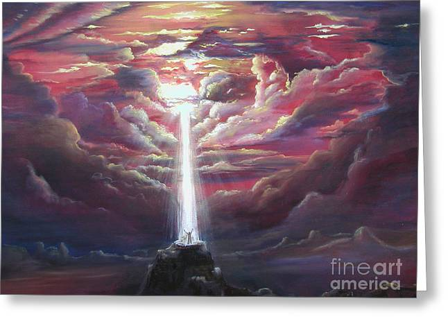 Intercession Through Worship Greeting Card by Kathy Brusnighan