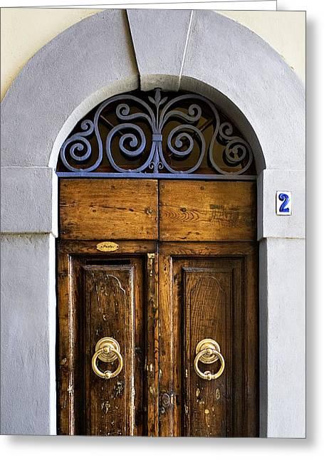 Interesting Door Greeting Card