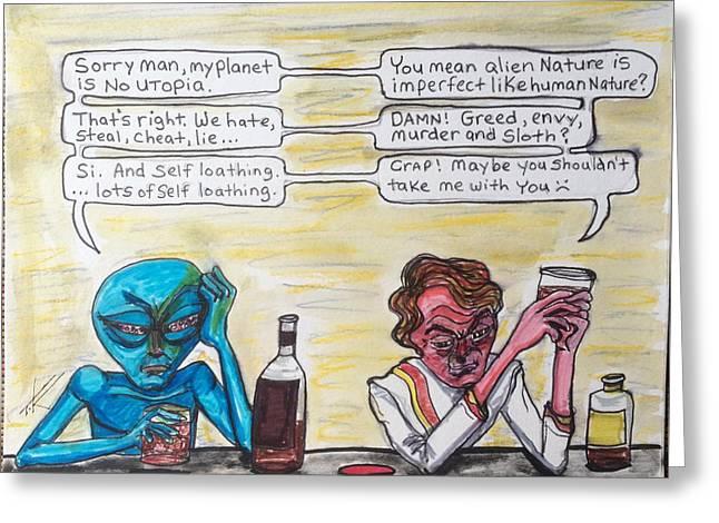 Intergalactic Reality Check Greeting Card