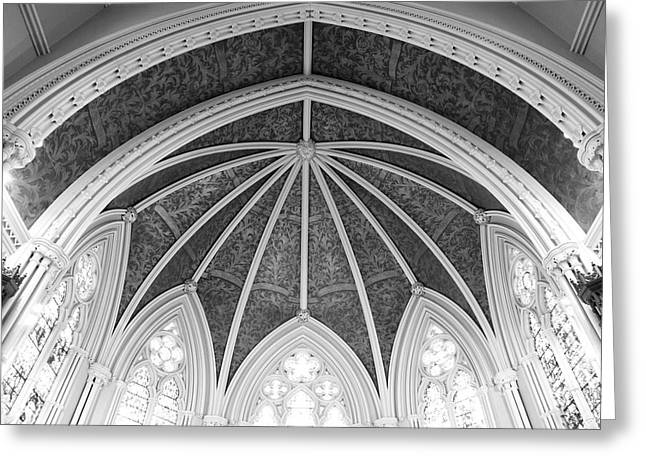 Interior Architecture Of A Church Greeting Card