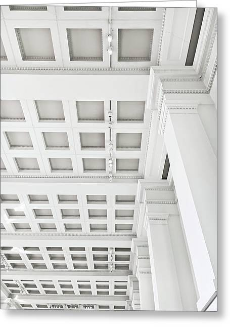 Interior Ceiling Detail Greeting Card by Tom Gowanlock