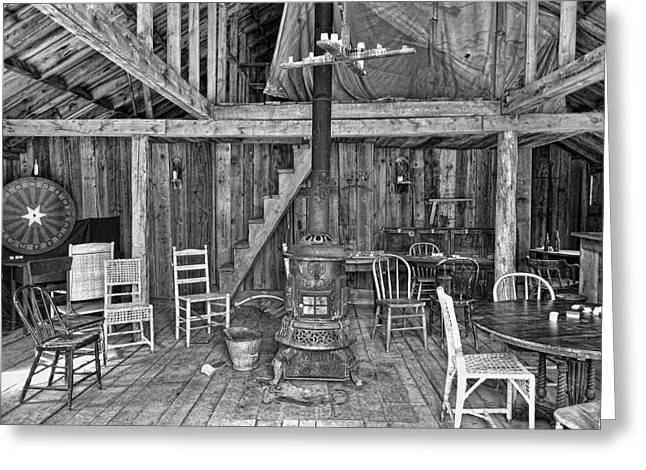 Interior Criterion Hall Saloon - Montana Territory Greeting Card by Daniel Hagerman