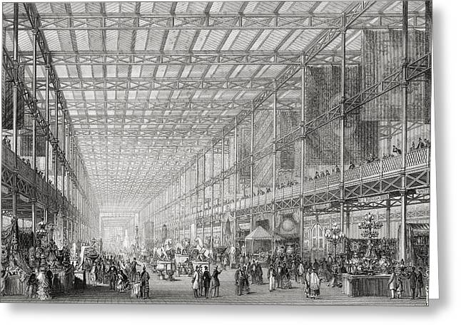 Interior Of The Great Exhibition Of The Greeting Card by Vintage Design Pics