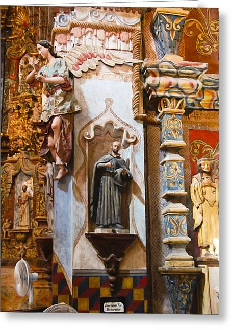 Interior San Xavier De Bac Mission Greeting Card