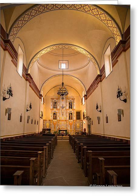 Interior Sanctuary Queen Of Missions San Antonio Greeting Card