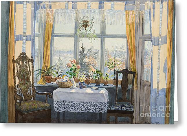 Interior Scene  Greeting Card by MotionAge Designs