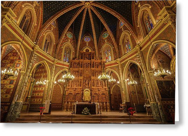Interior View Of St Peters Church In Teruel Aragon Spain Greeting Card by Diego Delso