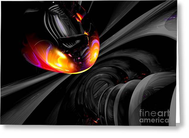 Internal Desire Abstract Greeting Card by Alexander Butler