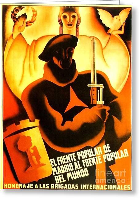 International Brigade Homage Greeting Card