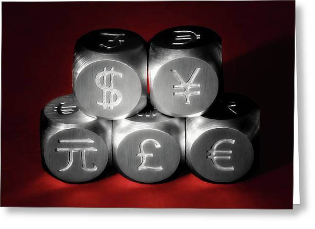 International Currency Symbols II Greeting Card