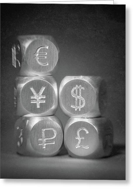 International Currency Symbols Greeting Card