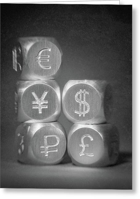 International Currency Symbols Greeting Card