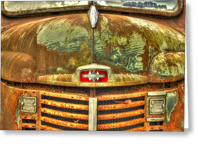 International Harvester Hood Greeting Card by Reid Callaway