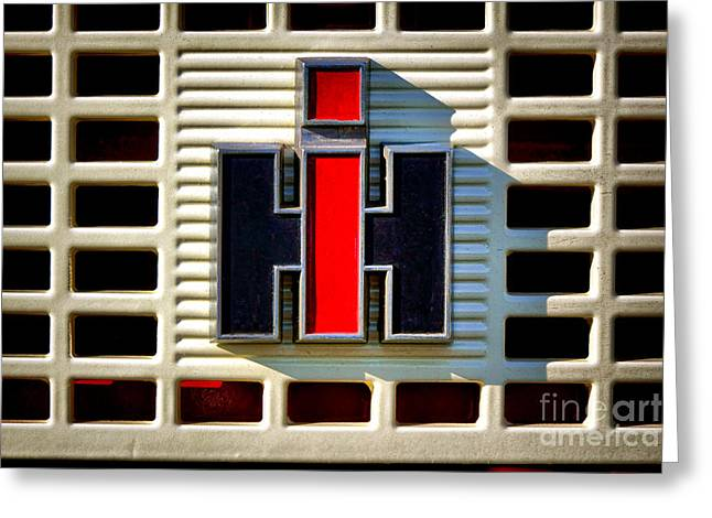 International Harvester Logo Greeting Card by Olivier Le Queinec