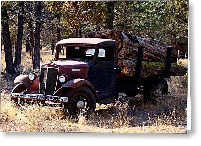 International Log Truck Greeting Card