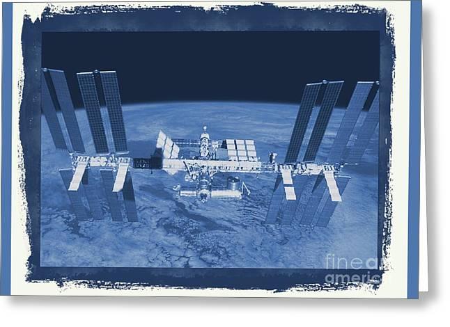 International Space Station Greeting Card by Raphael Terra