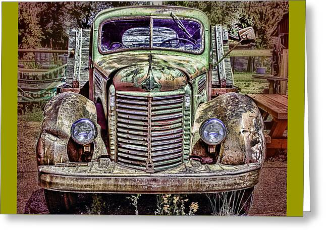 International Truck In Sattley Greeting Card by William Havle