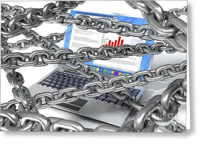Internet Censorship, Artwork Greeting Card