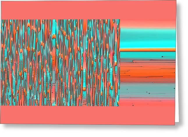 Interplay Of Warm And Cool Greeting Card by Ben and Raisa Gertsberg