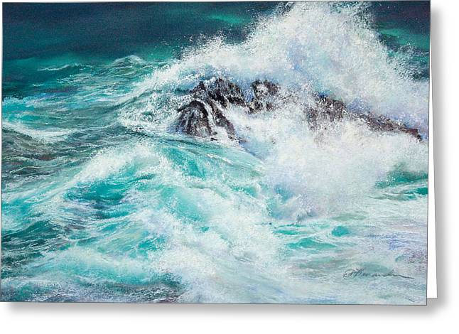 Whitewater Pastels Greeting Cards - Interrupted Journey Greeting Card by Candace D Fenander