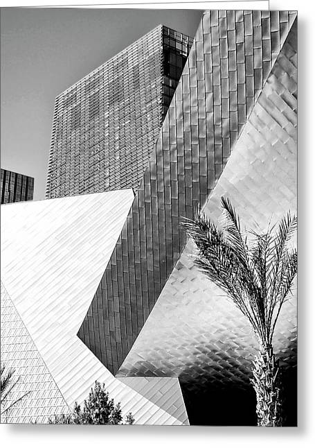 Intersection 1 Bw Las Vegas Greeting Card by William Dey