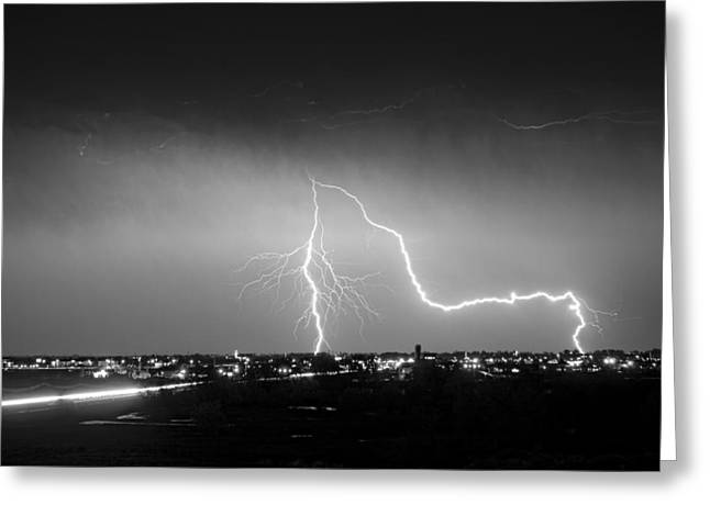 Intersection Black And White Greeting Card by James BO  Insogna