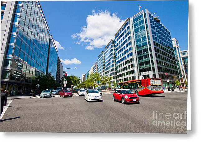 Intersection Of Connecticut Avenue And K St., Downtown Washingto Greeting Card