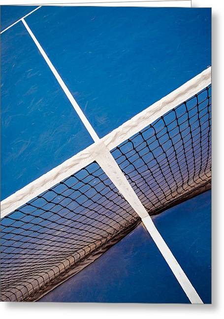Intersections On The Tennis Court Greeting Card