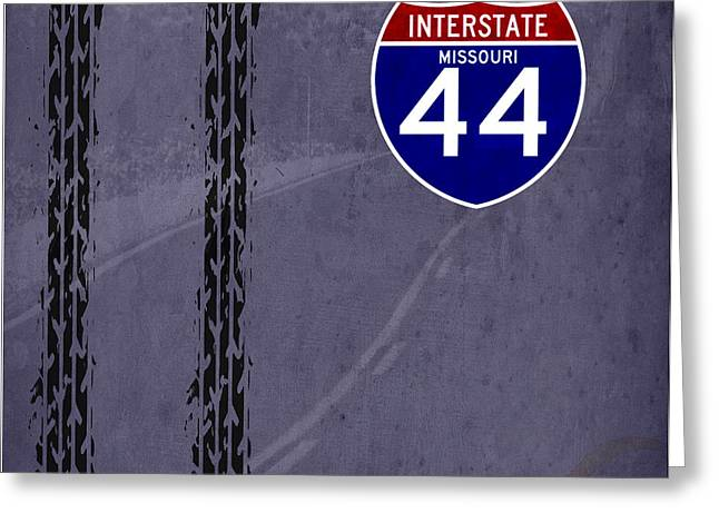 Interstate 44 Missouri Greeting Card by Pablo Franchi