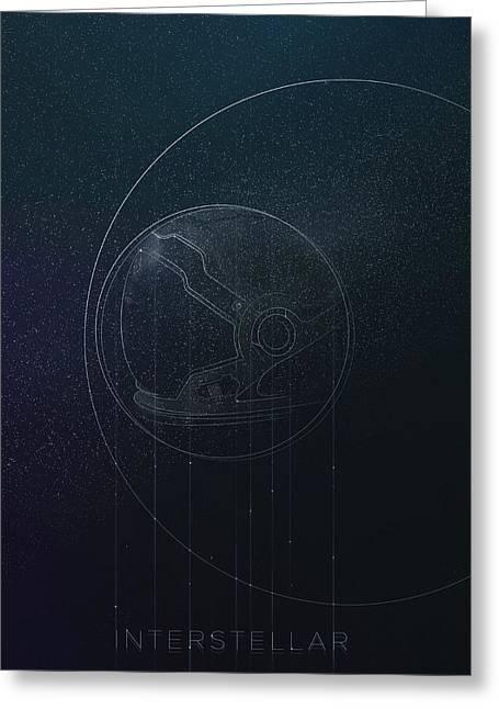 Interstellar Movie Poster Greeting Card by Lautstarke Studio