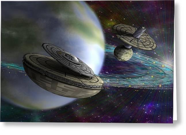 Greeting Card featuring the digital art Interstellar by Vincent Autenrieb
