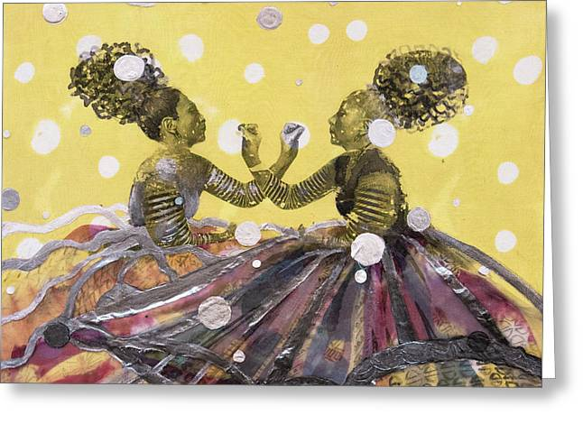 Intertwine Greeting Card by Cathy Jacobs